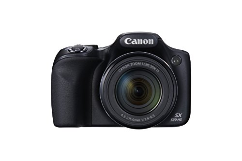 Canon SX530 HS PowerShot Point and Shoot Digital Camera (16 MP, 50x Zoom, Wi-Fi, 3 inch LCD) – Black