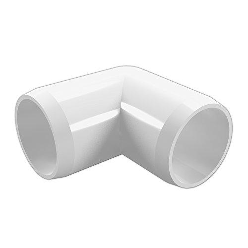 FORMUFIT F11290E-WH-4 90 degree Elbow PVC Fitting, Furniture Grade, 1-1/2