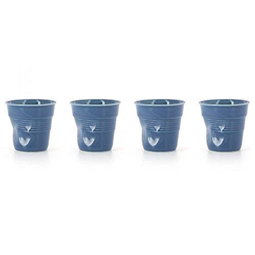 Revol Set of 4 Cappuccino crumpled tumblers ()