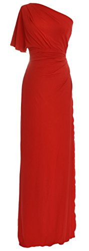 One Shoulder Jersey Gown - 5