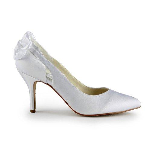 Jia Jia Wedding 8390B6 chaussures de mariée mariage Escarpins pour femme blanc, EU 42