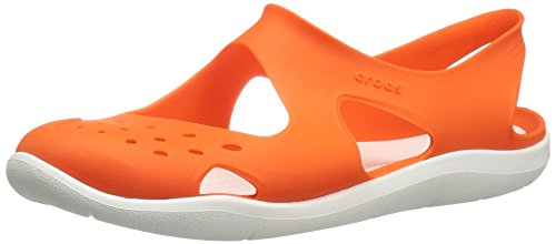 crocs Damen Swiftwater Wave Clogs, Schwarz Active Orange