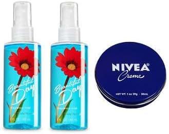 Bath and Body Works 2 Pack Beautiful Day Travel Size Fine Fragrance Mist 3 Oz. + Travel Size Cream 1 Oz.