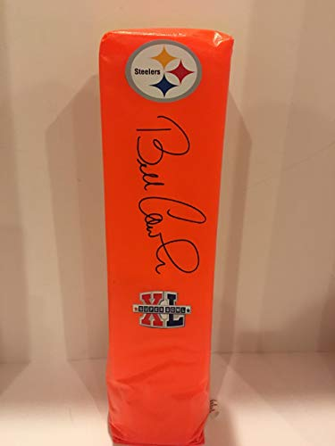 (BILL COWHER SIGNED TOUCHDOWN PYLON PITTSBURGH STEELERS SUPER BOWL XL PROOF)