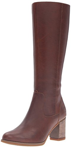 Image of the Timberland Women's Atlantic Heights WP Riding Boot, Wheat Forty, 9.5 M US