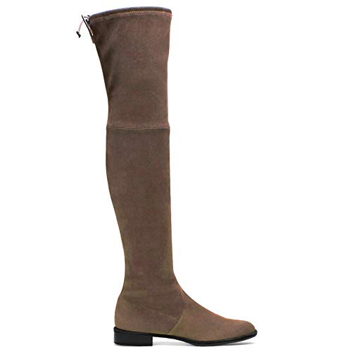 - Charles Albert Women's Sexy Stretch Faux Suede Over The Knee Thigh High Heel Boots (10, Taupe)