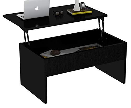 (Smart Lift-Top 2' x 3' Coffee Table (Black))