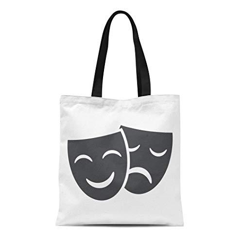 Greek Theatre Comedy Costumes - Semtomn Cotton Canvas Tote Bag Theatre