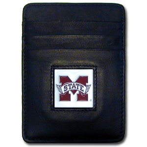 Siskiyou NCAA Mississippi State Bulldogs Leather Money Clip/Cardholder