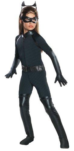 Dark Costumes Women (Batman Dark Knight Rises Child's Deluxe Catwoman Costume - Large)