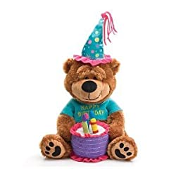 Adorable Happy Birthday Teddy Bear With Cake That Plays Happy Birthday To You Great Gift Item