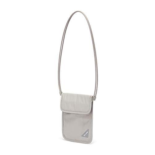 31PwDrhuteL - Pacsafe Coversafe X75 Anti-Theft RFID Blocking Neck Pouch, Neutral Grey