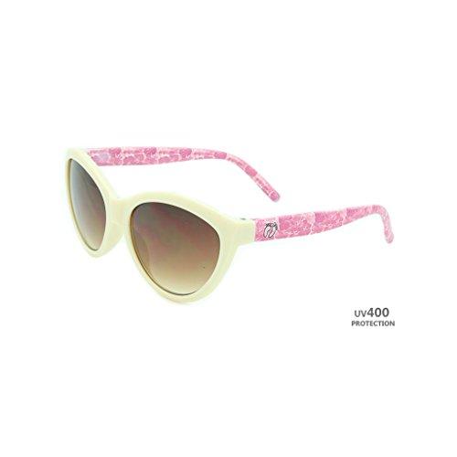 Hangten Kids UV400 Sunglasses, Pink with Pink Feet - Sunglass Logo
