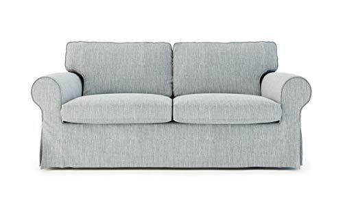 SC Replace Sofa Cover for Ektorp Sleeper, Ektorp Sofa Bed Slipcover-Light Grey