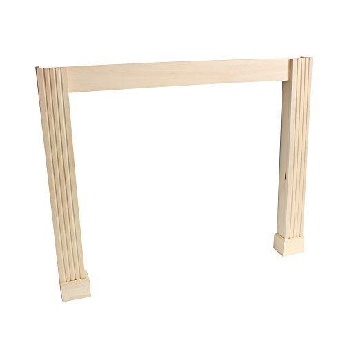 (Frederick Leg and Skirt Kit Paint Grade Unfinished Poplar Full Surround Shelf Conversion Kit)