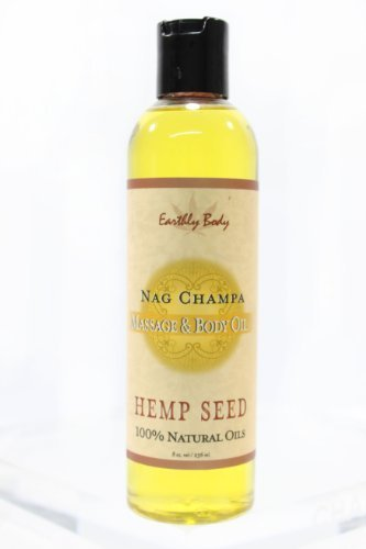 Massage-Oil-Natural-Blend-NAG-CHAMPA-East-Indian-Incense-by-Earthly-Body-8oz