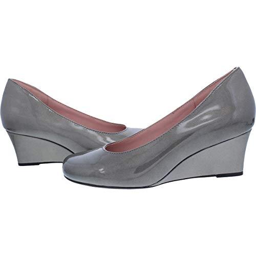Patent Taryn Womens Rose Taijo Pewter Round Toe Dress Heels Wedge PPHqzwrS