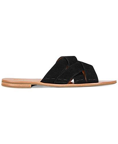 Size Carla Casual 5 Sandals FRYE Open 5 Cross Slide Criss Toe Black Womens gwqav