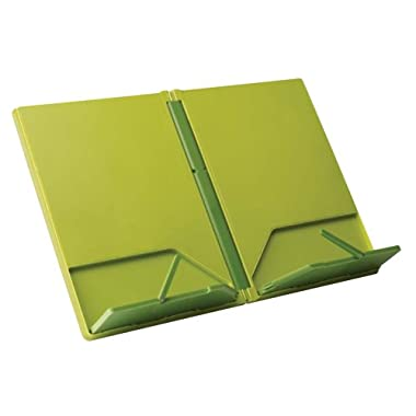 Joseph Joseph CookBook Compact Folding Bookstand, Green and Dark Green