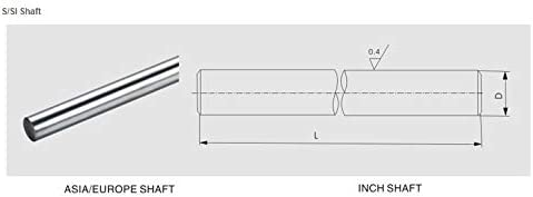 Nologo WJW-DAOGUI, 2 PC-3D-Drucker Rod Shaft 8mm Lineare Wellen 800mm Verchromte Linearführungsschiene Rund Rod 8mm 800mm