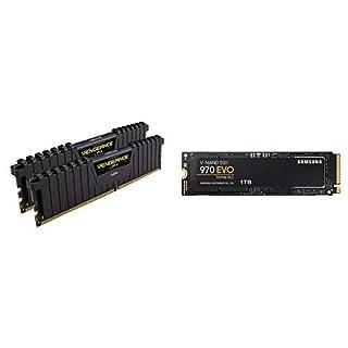 Corsair LPX 32GB (2x16GB) 3200MHz C16 DDR4 DRAM Memory Kit, Black w/Samsung 970 EVO 1TB - NVMe (B07KNDRLZY) | Amazon price tracker / tracking, Amazon price history charts, Amazon price watches, Amazon price drop alerts