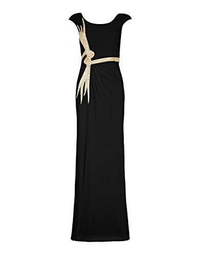 1012820 silber lange Tonia Ivory Schal Damen Dynasty Silver Stil ohne Kleid schwarz RwOznqB