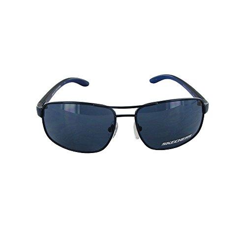 Navy Aviator (Skechers Unisex SK 6003 Fashion Aviator Sunglasses, Navy)
