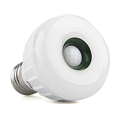 TOOGOO (R) Lampara Bombilla Luz E27 25 LED 3528 SMD Sensor Movimiento Blanco Calido: Amazon.es: Iluminación