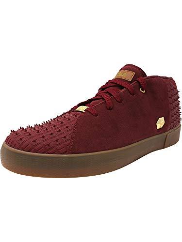 Nike Men's Lebron XIII Lifestyle Team Red/Metallic Gold-Gum Medium Brown Ankle-High Leather Fashion Sneaker - 10.5M
