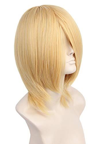 Topcosplay Unisex Anime Cosplay Wig Blonde Short Halloween Costume Wigs Long -