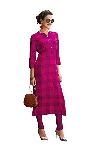 Da Facioun Readymade Indian Women Designer Partywear Ethnic Traditonal Kurti. Da Facioun Ready-made Indiennes Design Partywear Ethniques Kurti Traditionelles. Pink Rose