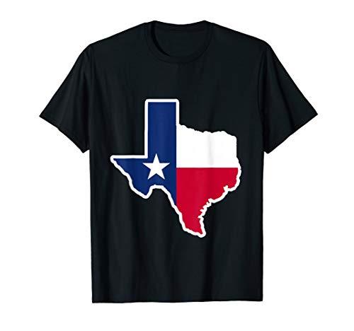 proud texan star flag texas map Shirt ()