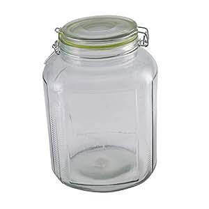 Airtight 4.25 Liter Glass Storage Jar