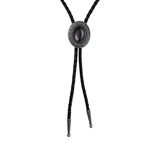 Bolo tie Black Handmade Western Cowboy Bola tie Gift for Men and Women -
