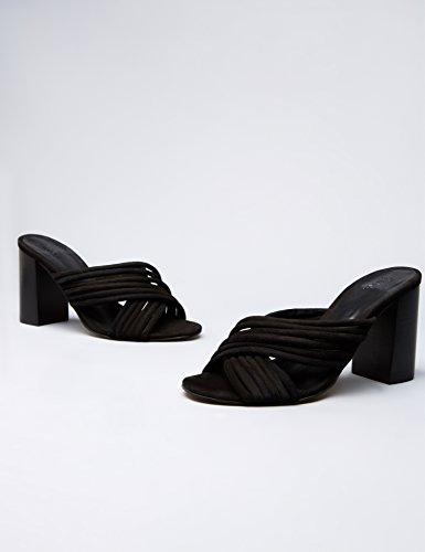 Noir FIND Bout Black Femme Sandales Ouvert qSIwSzv