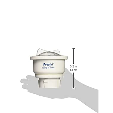 Preethi MGA-502 0.4-Litre Grind and Store Jar (White) 14