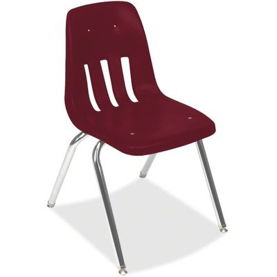 (VIR901850 UNITED STATIONERS (OP) CLASSROOM CHAIR 18IN SEAT WINE/CHRM 4/CS)