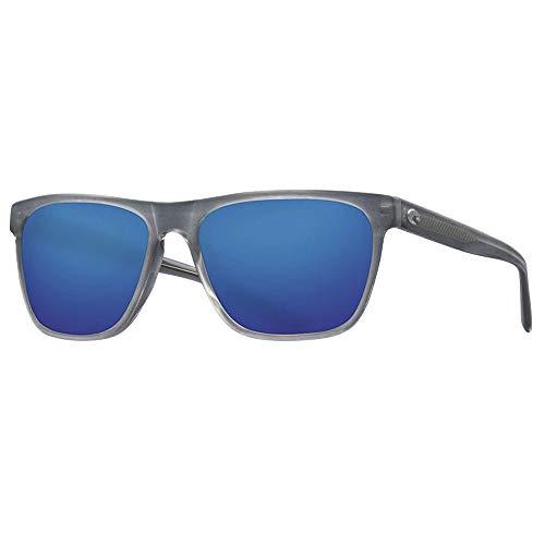 Costa Apalach Sunglasses - Matte Gray Crystal Frame - Blue Mirror 580G Polarized Glass Lens