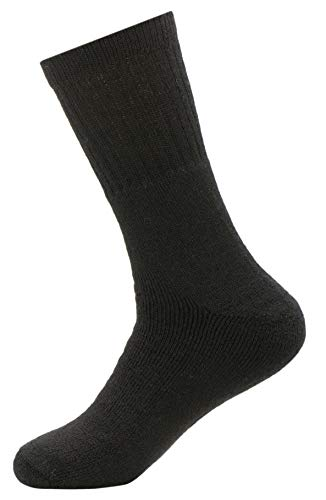 ATHLETIC Plush ALPACA SOCKS - Moisture-Wicking - LUXURIOUS All Weather Comfort - Small Black