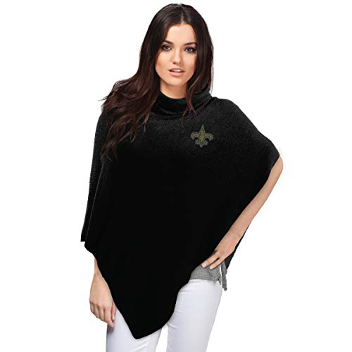 NFL New Orleans Saints Crystal Knit Poncho