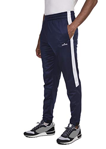 Tapered Pant Track - Spalding Mens Tricot Tapered Zipper Track Pants Dk Navy X-Large