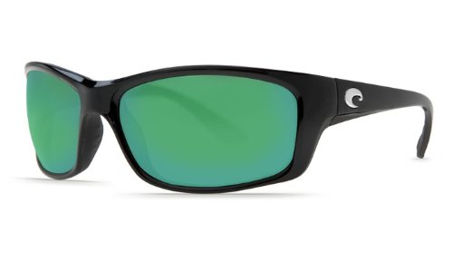 Costa Del Mar Jose 580G Polarized Sunglasses in Black & Green Mirror - 580 Jose Costa Del Mar