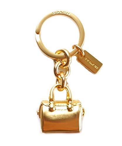 Coach Womens Mini Handbag Keychain Purse Hanger Gold from COACH
