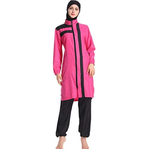 141e550f4a514 Modest Muslim Swimwear Islamic Swimsuit Hijab Swimwear Full Coverage Swimwear  Muslim Swimming Beachwear Swim Suit Pink