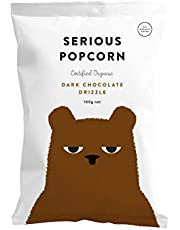 Serious Foods Popcorn, Dark Chocolate Drizzle, 100g