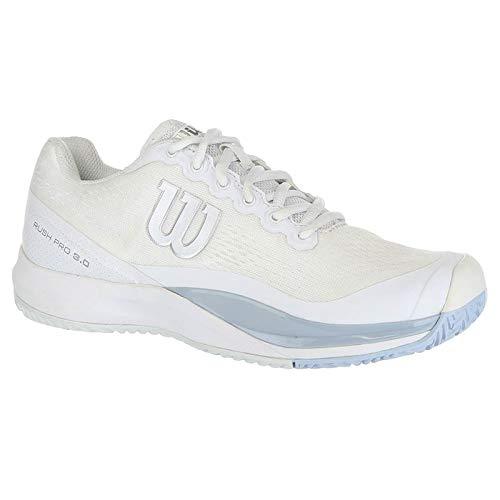 (Wilson Rush Pro 3.0 Womens Tennis Shoe - White/Cashmere Blue/Illusion Blue - Size 8)