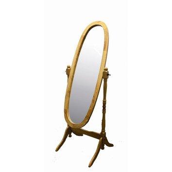 Crown Mark Cheval Mirror, White Finish (Oak)