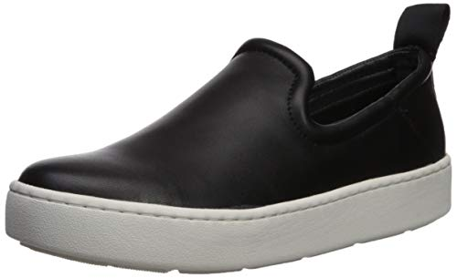 Dolce Vita Women's TAG Sneaker, Black Leather, 8.5 M US