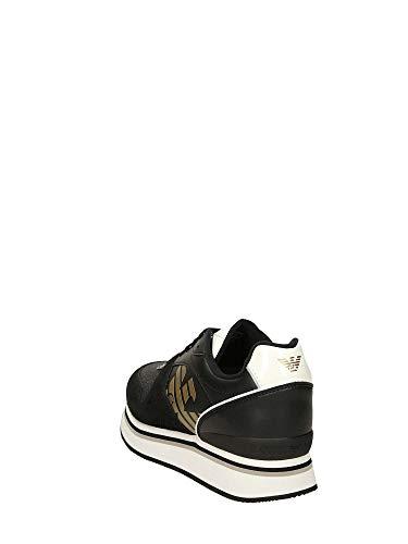 Emporio Black X3x046 Basse Armani Sneakers Donna qSB1Hqzw