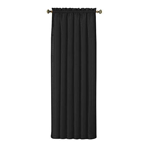 BRIGHTLINEN Vintage 100% Velvet 50 by 120 inches Thick Blackout Elegant Thermal Insulated Blackout Curtains Black
